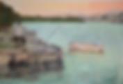 Il pescatore (1992)- tempera su cartoncino - cm 70 x 50