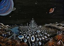 Visita al pianeta di Soon (2019) - olio