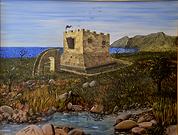 La torre cavallara a catanzaro lido (2000) - olio su tela - cm 80 x 60