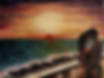 Amanti al tramonto (2018) - olio su tela