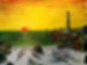 alba a capo colonna,crotone (2017) - olio su tela - cm 40 x 30