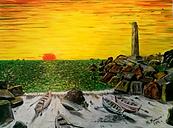 alba a capo colonna,crotone (2016) - olio su tela - cm 40 x 30
