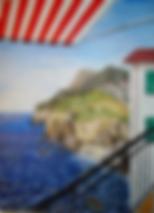 vista dal balcone a picco sul mare (2010) - olio su tela - cm 50 x 70