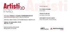 invito presentazione Artisti '20 di Mondadori