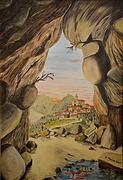 la grotta (2001) - olio su tela - cm 50 x 70