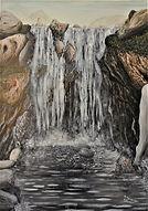 cascata grande (1993) - olio su tela - c