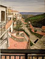 vista dal balcone golfo di squillace (2009) - olio su tela - cm 50 x 70