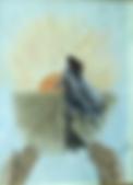 Non te ne andare (1993) - tempera su cartoncino - cm 30 x 40