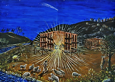 Quella notte a Betlemme (2018) - olio su