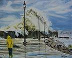 Tempesta sul porto di Catanzaro (2019) cm 50x40 - olio su tela