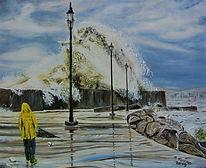 Tempesta sul porto di Catanzaro (2019) cm 50x40