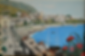 Panorama di Salina, isole Eolie (1989) - tempera su cartoncino - cm 50 x 40