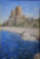 castello di roseto capo spulico (1997) - olio su tela - cm 50 x 70