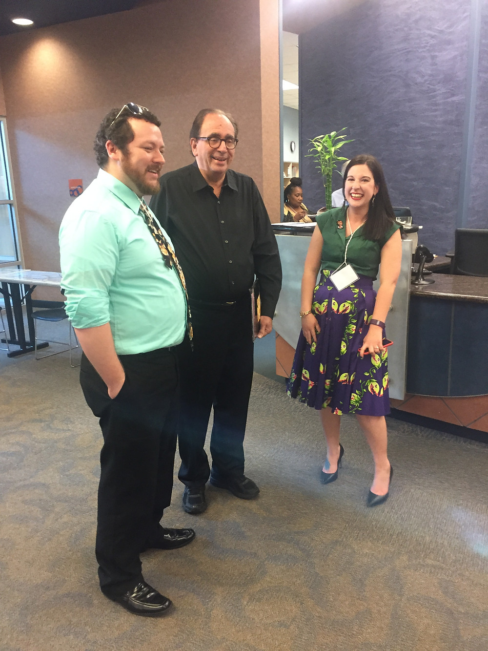 Organizer Jessi Suire and R.L. Stine at the 2017 Jambalaya Writers' Conference