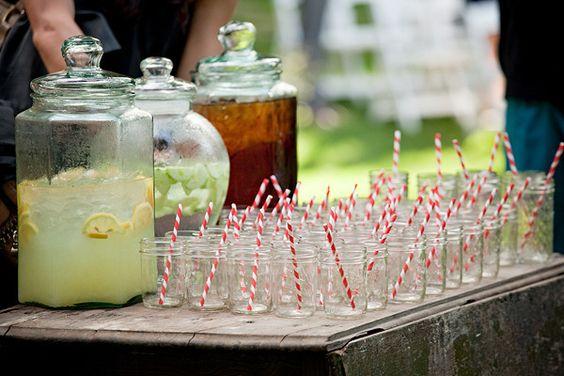 jam jars & stripy straws