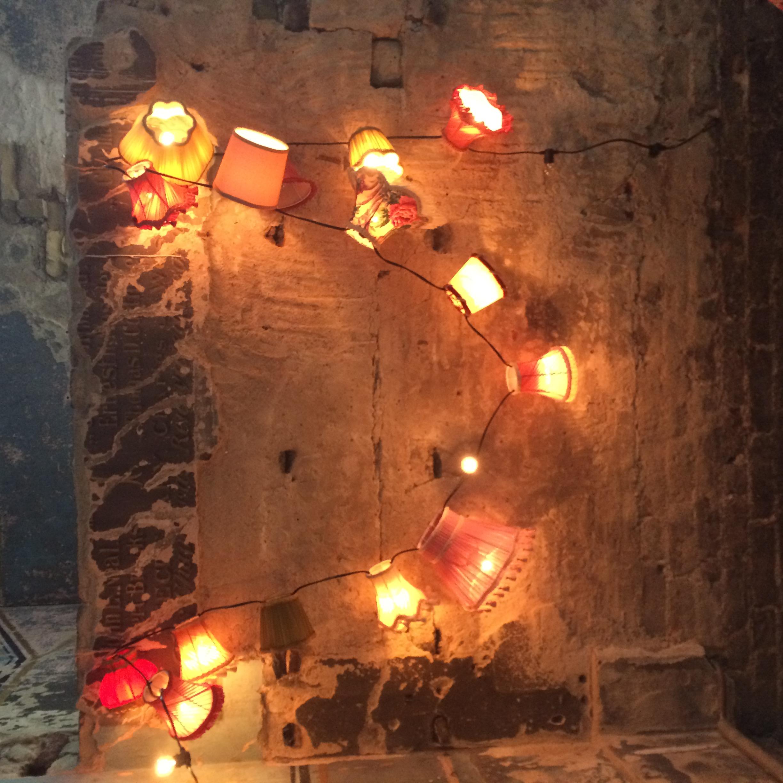 vintage festoon lights