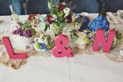 vintage wedding centrepieces