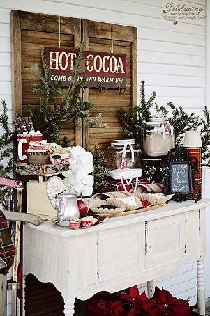 hot chocolate  cocoa bar