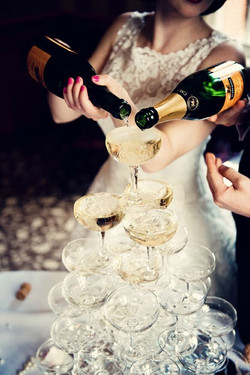 champagne drinks tower