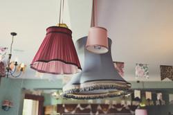 hanging boudoir lampshades