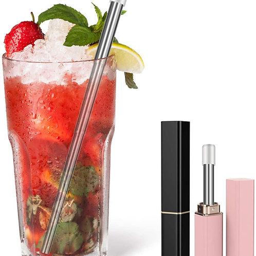 Eco Friendly Reusable Straws, Stylish Lipstick Straws with silicone head to Prev