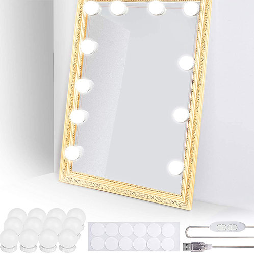 Tomight Vanity Mirror Lights 12 LED Bulbs, Hollywood Mirror Lights for Dressing