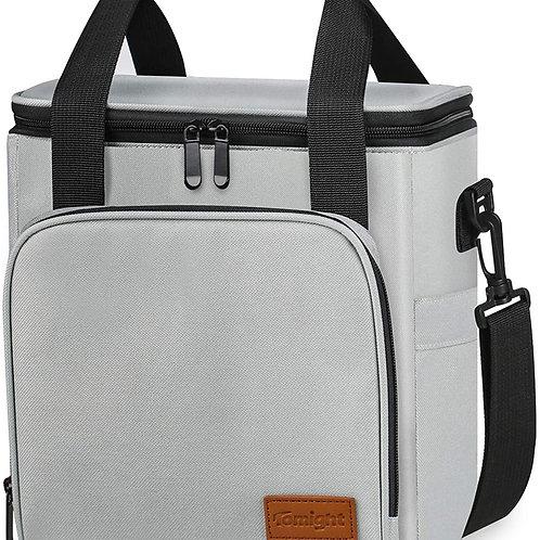 Lunch Bag, 12L Cooler Bag with Adjustable Shoulder Stripe, Insulated Lunch Bag t