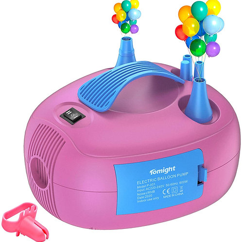 Electric Balloon Pump, Electric balloon Inflator Pump with Dual Nozzles, Knotter