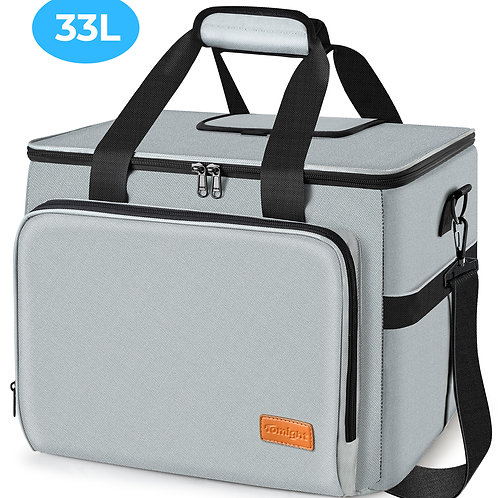 tomight Picnic Insulated Lunch Bag 33L with Rigid Lining for Keeping Warm and Co