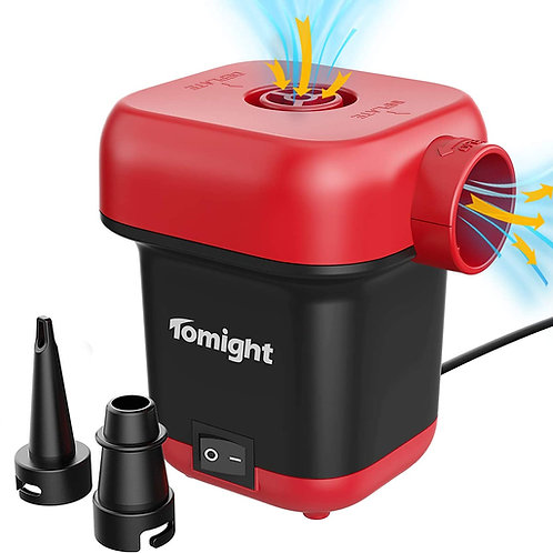 Electric Air Pump for Inflatables, Quick-Fill AC Air Pump Inflate Deflate Pump w