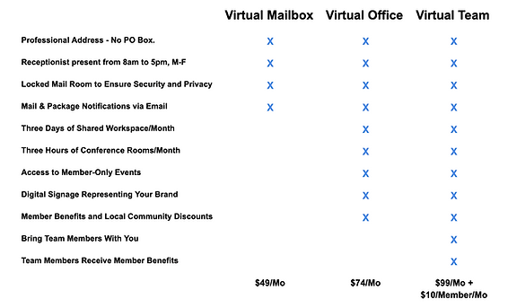 Virtual Membership Pricing