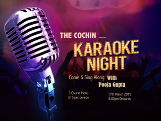 Join us for Karaoke Night on 17th March, Sunday