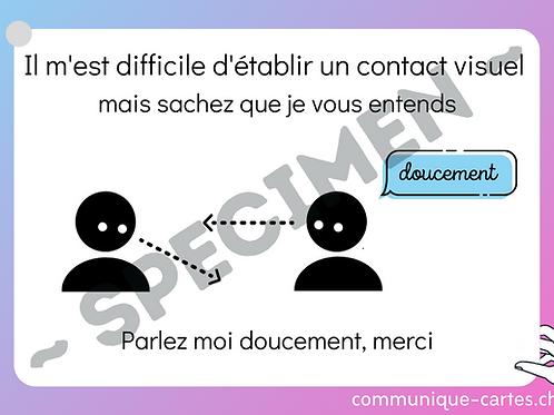 "Carte ""Contact visuel"""