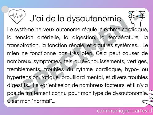 """Carte """"Dysautonomie"""""""