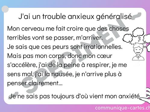 """Carte """"Trouble anxieux généralisé"""""""