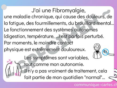 "Carte ""Fibromyalgie"""