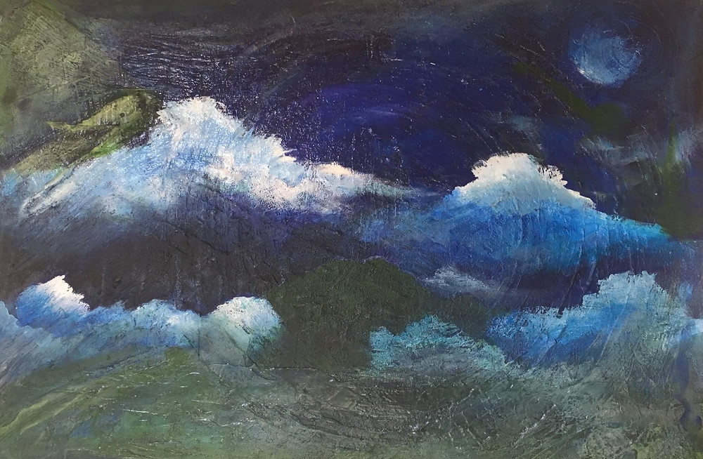Misty Mountains at Midnight by Marcia Francis