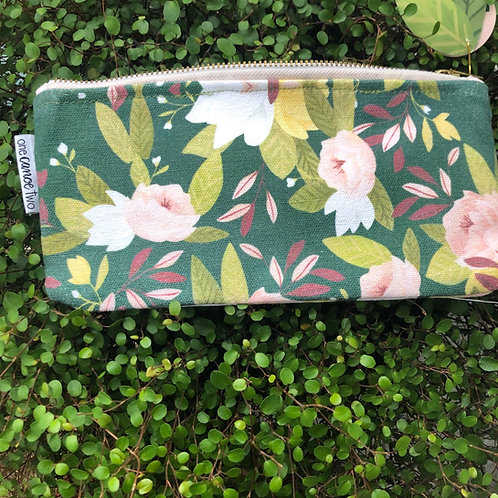 Floral Pencil/Make up pouch
