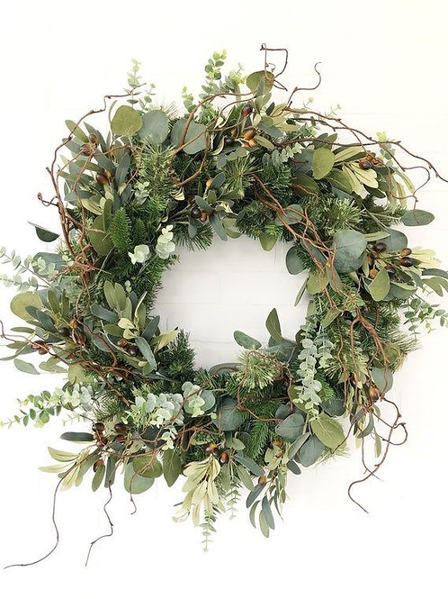 Winter Eucalyptus and Olive wreath 20""