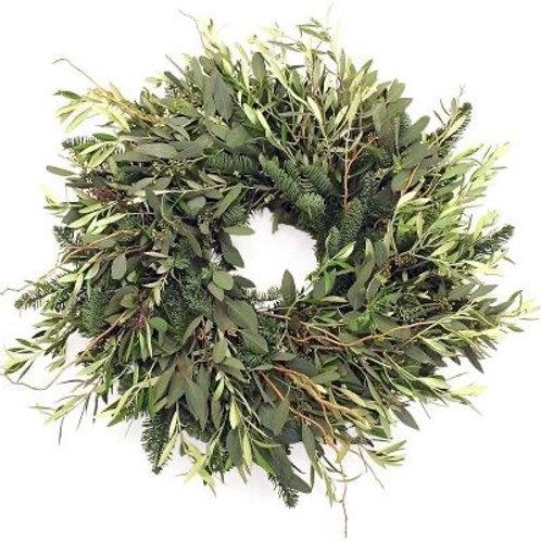 "Winter olive wreath 20"""