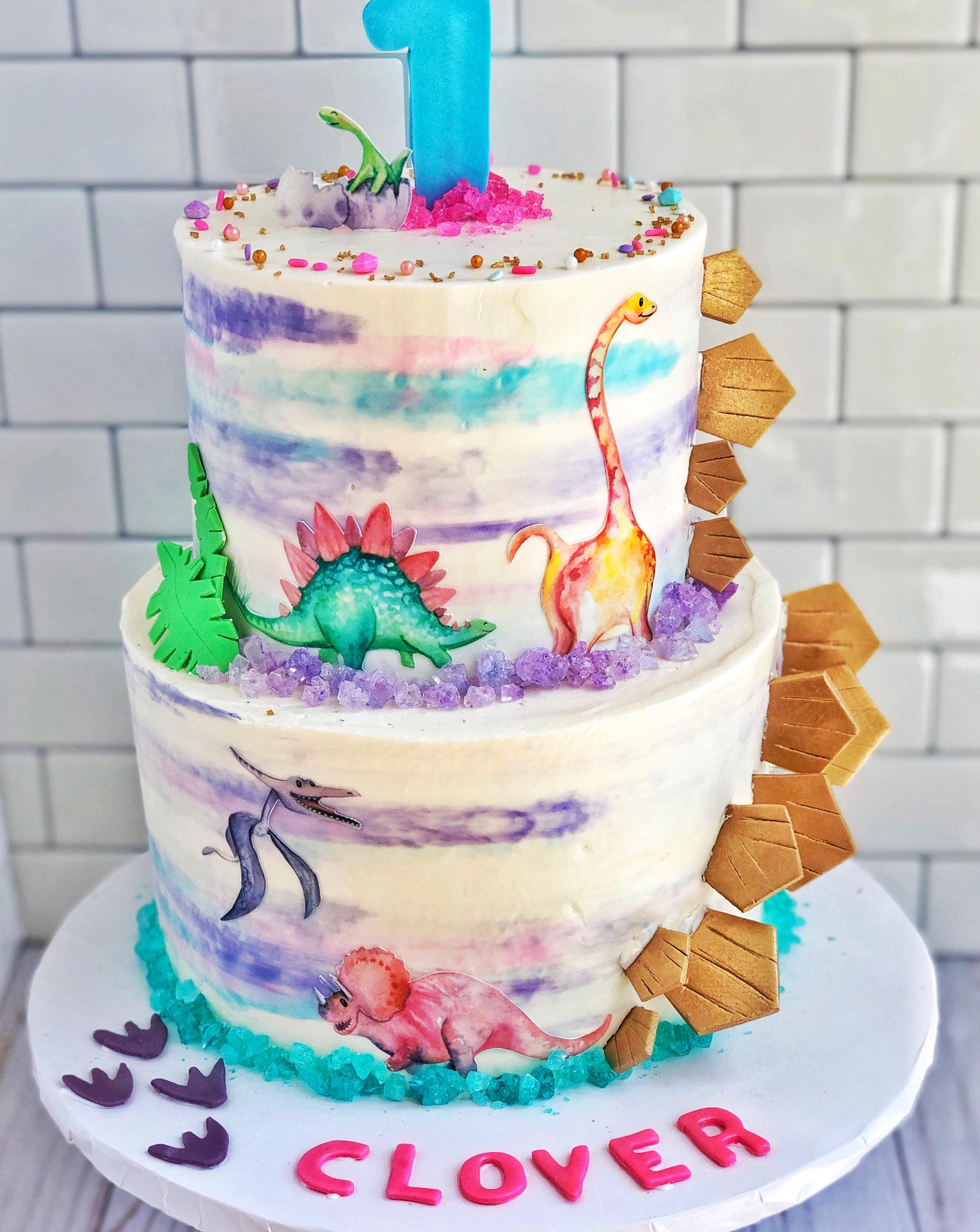 Girl's Dinosaur Cake