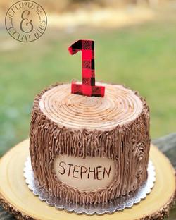 Lumberjack Smash Cake