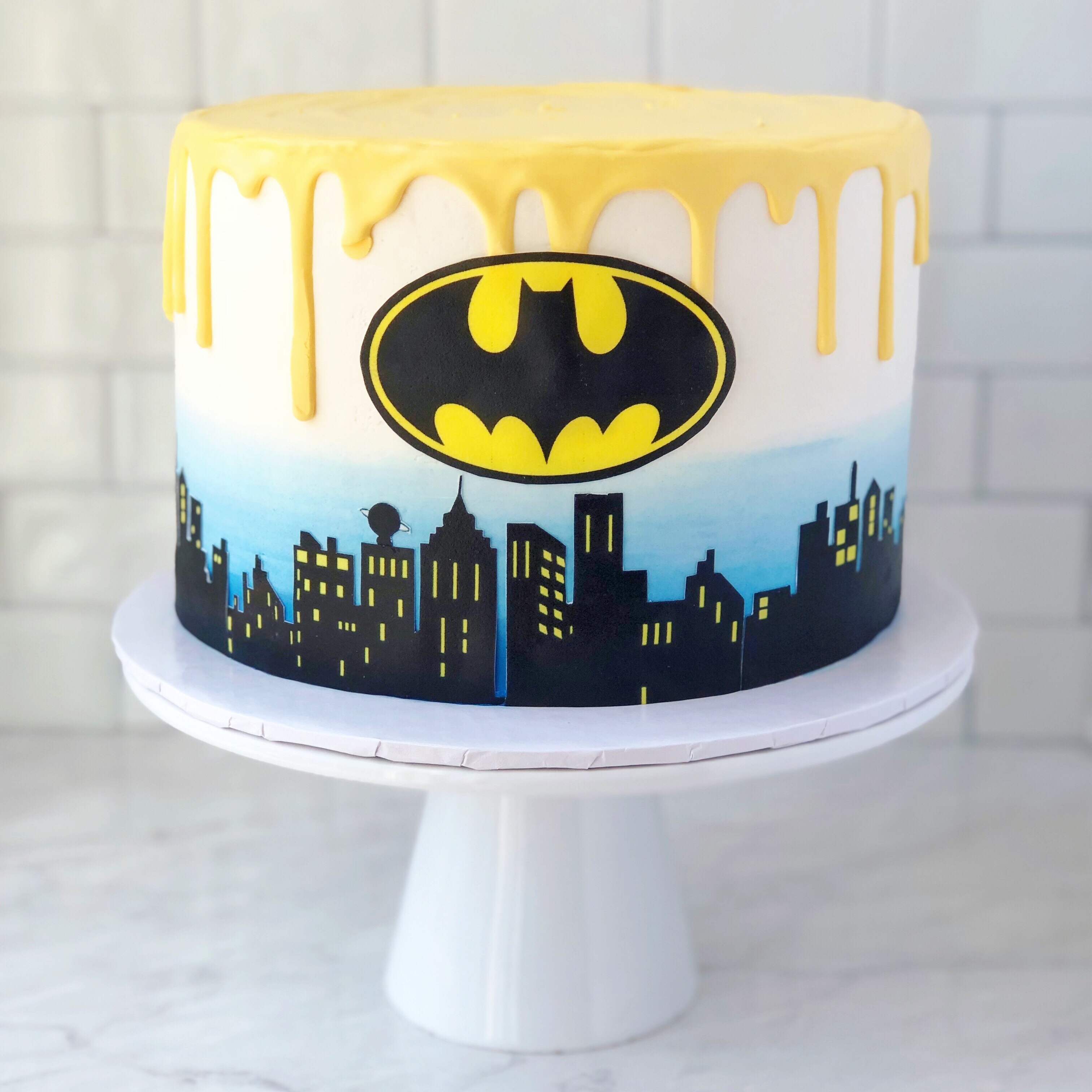 Batman Skyline Cake