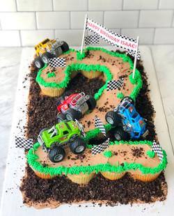 Monster Truck Pull-Apart Cupcake Cake