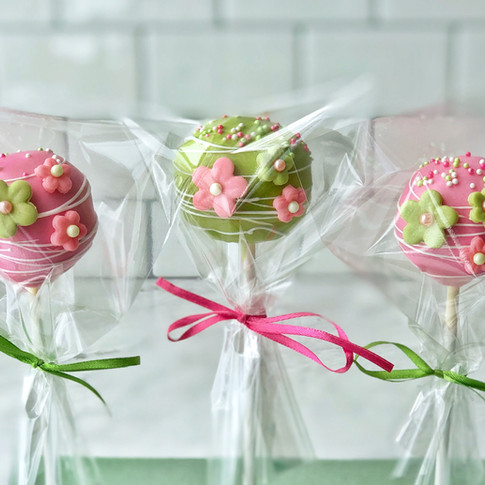 Apple Blossom Cake Pops