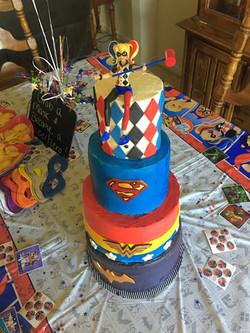 Girl Super Heroes Cake