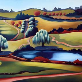 "BLUE RIDGE   oil on canvas board 16 x 20"" 2010"