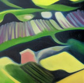 "SOUPE AU PISTOU   oil on wood panel  9 x 12.5""  2007"