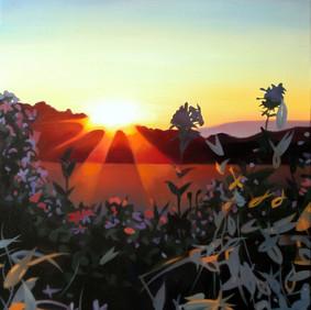 """SABLES AU CITRON   oil on wood panel  16 x 20""""  2007"""