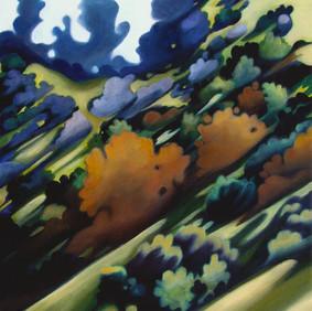 "GRIFFITH HILLSIDE   oil on canvas  12 x 16""  2009"
